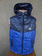 Детская Жилетка adidas   от 1 года-6 лет синяя-1