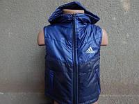 Детская Жилетка adidas   от 1 года-6 лет синяя-2