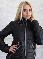Стильная курточка с двумя змейками на карманах