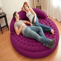 Велюр кровать 68881 круглая, кровать-диван со съемным изголовьем 191-191-51, см