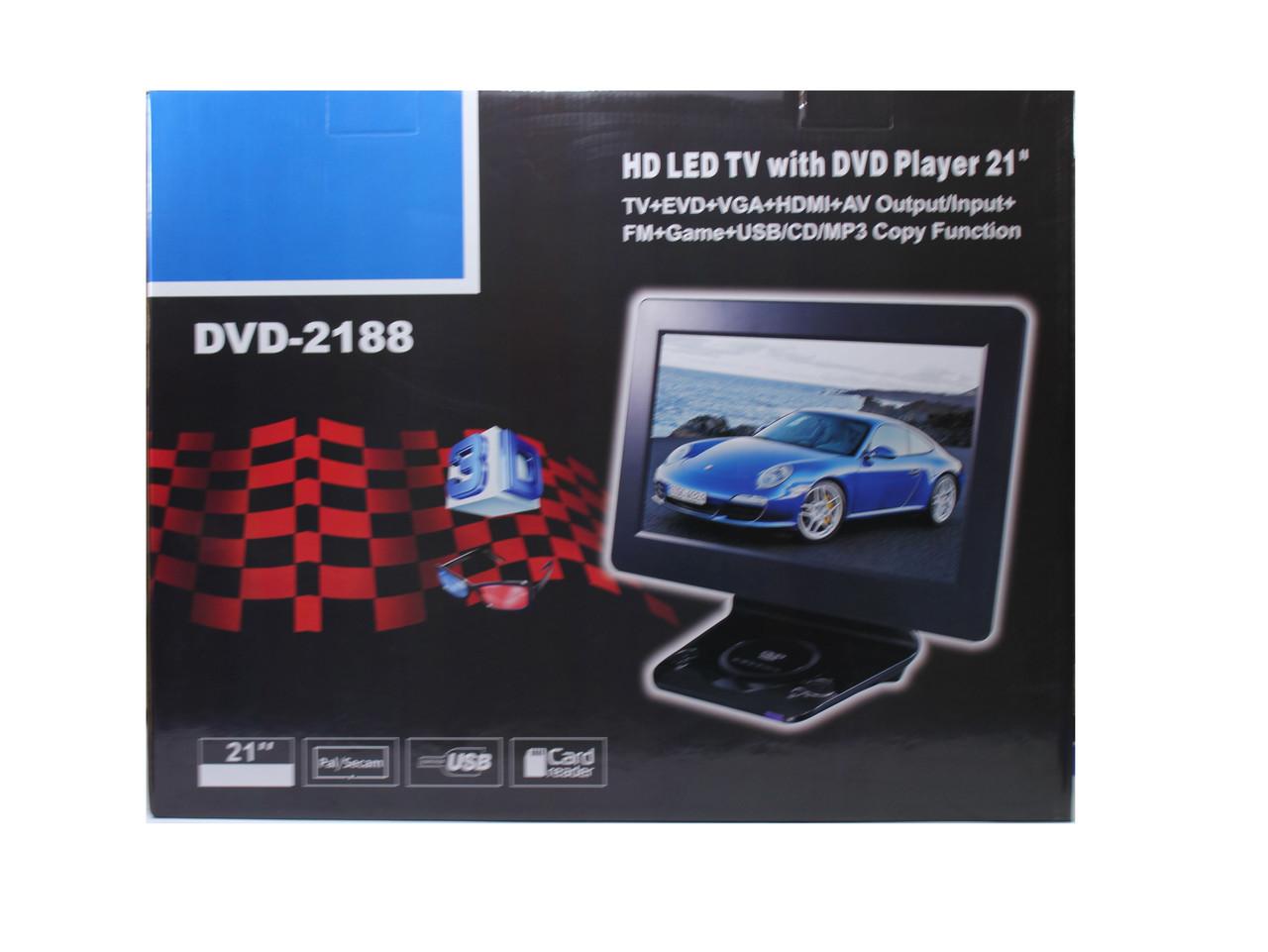 Портативный DVD Плеер 2188 + TV