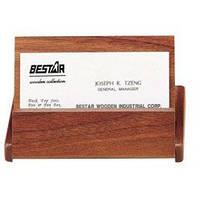 Деревянный контейнер для визиток BESTAR орех 1316WDN
