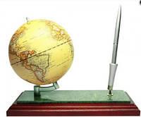 Глобус на подставке дерево-мрамор с ручкой BESTAR, красное дерево 0913WDM