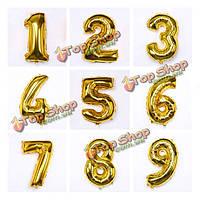 Надувные цифры золотые 10шт