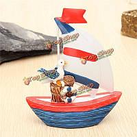 Новый мини-мореходное декор деревянный корабль парусное судно домой вечеринка стол стол dislpay