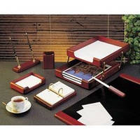 Набор настольный деревянный на 7 предметов, цвет: красное дерево 7238WDM