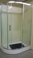 Душевая кабинка с поддоном 15см Appollo TS-646 правая 120х80х200 хром/прозрачное