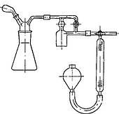 Аппарат для определения растворенной воды в нефт. маслах