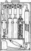 Комплект оборудования типа КГА-1-1 для определения суммы кислотообразующих газов
