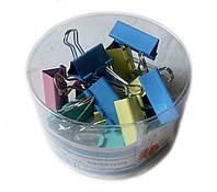 Біндер для паперів (40мм/24шт) кольорові