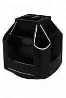 Подставка-карусель, незаполненная, пластик, черная,ECONOMIX,E81031