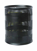 Подставка для ручек, круглая, 80х80х100мм, BUROMAX,BM.6203 (чорный,серебристый)