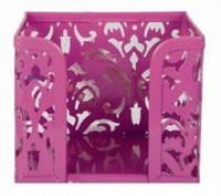"""Бокс для бумаги """"Barocco"""" 80x100х100мм, BUROMAX,BM.6216(фиолетовый,розовый )"""