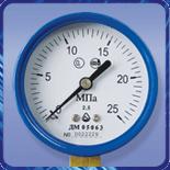 Манометр ДМ 05 063 для кислорода (0...25кгс/м?) 2,5 М12х1,5