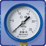 Манометр ДМ 05 063 для кислорода (0...250кгс/м?) 2,5 М12х1,5