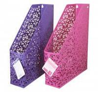 """Лоток  вертикальный """"Barocco"""" 338x248x70мм ,BUROMAX,BM.6262-07(фиолетовый,розовый )"""