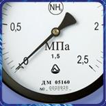 Манометр ДМ 05 100 для аммиака (0...600кгс/м?) 1,5 М20х1,5