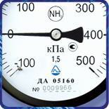 Мановакуумметр ДА 05 100 для аммиака модернизированный (-1...9кгс/м?) 1,5 М20х1,5
