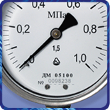 Манометр ДМ 05 063 виброустойчивый (0...160кгс/м?) 2,5 М12х1,5