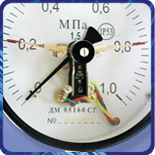 Манометр ДМ Сг 05 160 сигнализирующий модернизированный (0...1,6кгс/м?) 1,5 М20х1,5