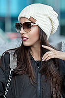 Женская вязаная шапка-носок Gunny (разные цвета)
