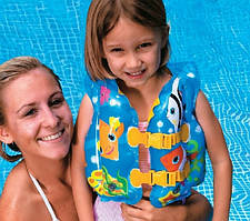 Детский надувной жилет Intex 59661, Рыбки