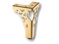 Опора мебельная металлическая AX4626-110 Gold золото 110 мм, фото 1