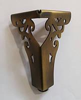 Опора мебельная металлическая AX4626-110 Bronze Antik античная бронза 110 мм, фото 1