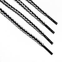 Шнурки 5 мм круглый бело черный 70 см