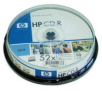 Диск CD-R Hewlett-Packard  700Mb 80min 52x cake box  10pcs 07721