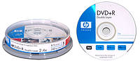 Диск DVD-R Hewlett-Packard  4.7Gb 16x cake box 10pcs 10443