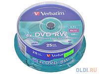 Диск DVD+R Verbatim 4.7Gb cake box 10pcs silver 16x 05056