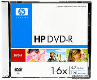 Диск DVD+R Hewlett-Packard 4.7Gb 16x slim 12297