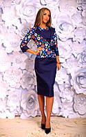 """Стильное молодежное платье мини с жакетом """" Джинс """" Dress Code"""