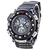 Бюджетные часы Casio G-Shock Twin Sensor Black-White