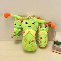 Симпатичный чучела плюшевых зеленая гусеница мягкая игрушка кукла