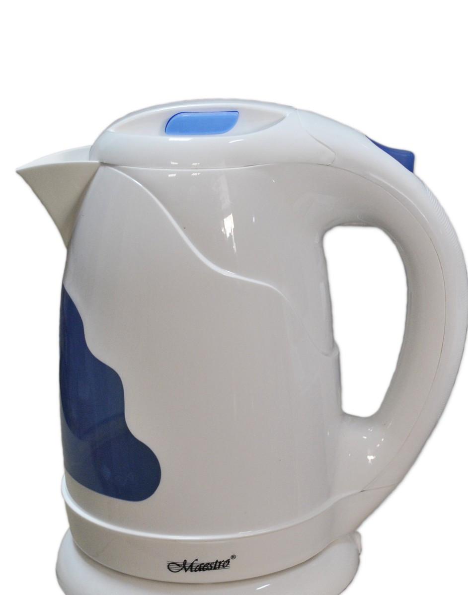 Электрический чайник белый с синим