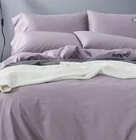 Однотонное постельное белье сатин люкс  Prestij Textile 08824