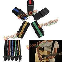 Гитара ремешок акустическая электрическая гитара бас нейлон регулируемый ремень ремень