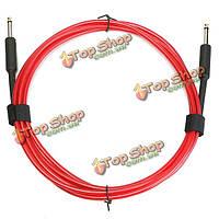 3 метра гитарный кабель усилитель усилитель инструмент провод шнура 10ft электрический красный