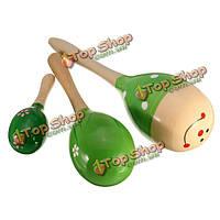 Мини деревянный шар дети BOBY игрушки Ударные музыкальные инструменты песка молоток