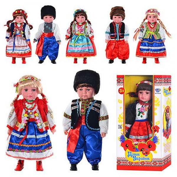 Кукла M 2132 UI Дiти Украïни, Катеринка и Олесь 49-24-12см