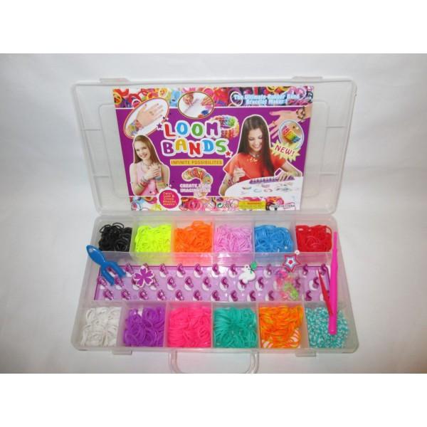 Набор резинок для плетения браслетов № 631782 р. 15-29-4 см.