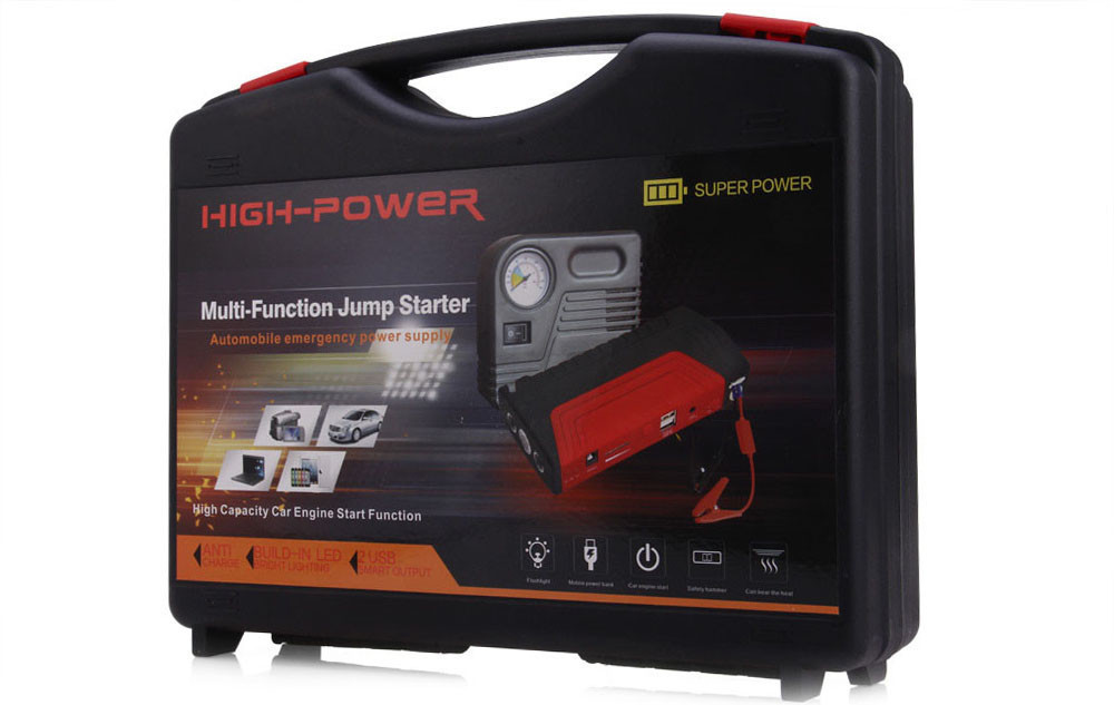 Набор для запуска аккумулятора 4 в 1 + компрессор + Power Bank POWER JUMP STARTER TM-15