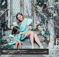 Набор платьев мама и дочка свободного кроя