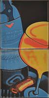 Плитка для стены Атем декор ORLY 2 WINE GLASS 200х100