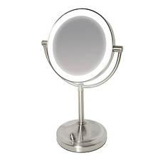 Косметическое двустороннее зеркало с увеличением и регулируемой подсветкой от HoMedics