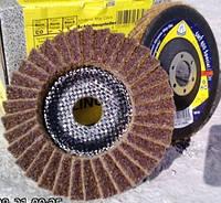 Лепестковый  круг из  скотчбрайта Klingspor SMT 800 coarse 278498 по нержавейке