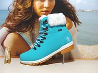 Ботинки женские BaaS WATERPROOF голубые 40 р.