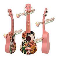 21-дюймов липа укулеле с Гавайями девушки модели сопрано уке